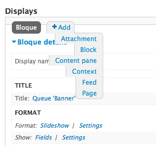 Drupal Views displays