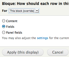 Drupal Views row styles