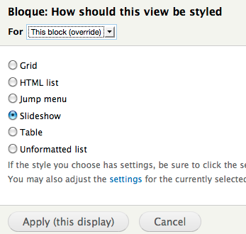 Drupal Views styles